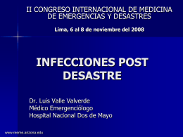 Infecciones post desastre