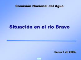 Situación del río Bravo