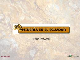 Minería en el Ecuador