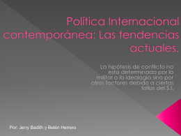 politica internaciona tendencias