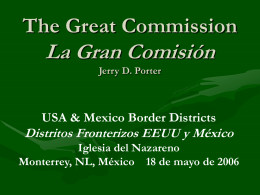 The Great Commission/La Gran Comisión - Dr