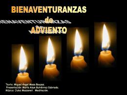 Bienaventuranzas de Adviento - Misioneras de la Inmaculada