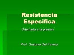Resistencia Especifica
