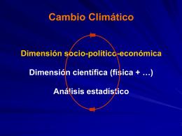 Cambio Climático I - Departamento de Ciencias de la Atmósfera