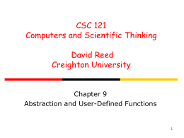 ppt - Dave Reed