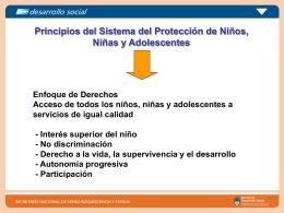 Principios del Sistema del Protección de Niños, Niñas y Adolescentes