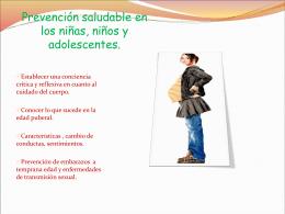 Prevención saludable en los niñas, niños y adolescentes.