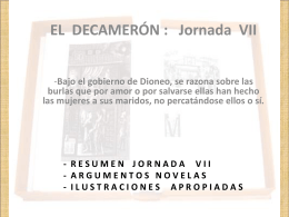 DECAMERÓN – Jornada VII