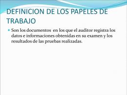 AUDITORIA PAPELES DE TRABAJO
