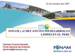 FONAM y El Mecanismo de Desarrollo Limpio en el Perú