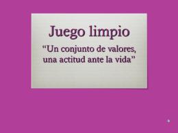 proyecto juego limpio - Colegio Santa Rosa de Lima