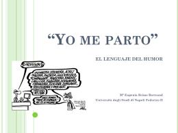"""yo me parto"" el lenguaje del humor - DEU-NA"