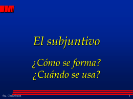 PPT Subjunctive Formation #1