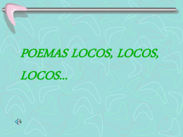 POEMAS LOCOS, LOCOS, LOCOS... El mundo