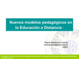 Nuevos modelos pedagógicos en la Enseñanza a