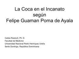 La Coca en el Incanato según Felipe Guamal Poma de Ayala.