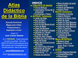 Bible Class Atlas - Espanol