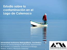 Contaminación en el Lago de Catemaco