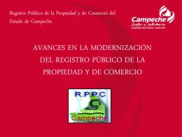 Registro Público de la Propiedad y de Comercio del Estado de Ca