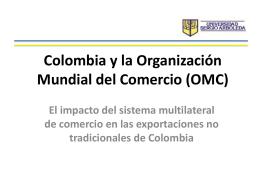 Colombia y la organización mundial del Comercio