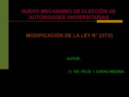 nuevo mecanismo de elección de autoridades universitarias