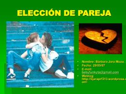 power point- la elección de pareja - Bárbara Jara