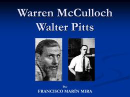 Warren McCulloch Walter Pitts - Departamento de Sistemas