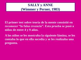 EXPERIMENTO 1: SALLY Y ANNA