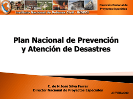 INDECI: Plan Nacional de Prevención y Atención