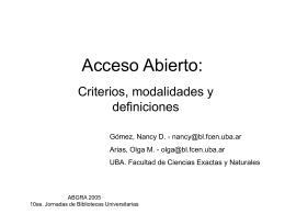 Acceso Abierto:
