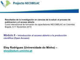 Módulo-8. Introducción al acceso abierto (open