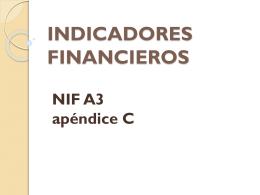Razones Financieras NIF