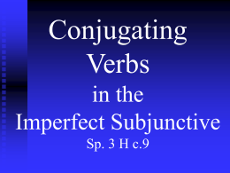 Conjugating –AR Verbs in the Preterite Tense