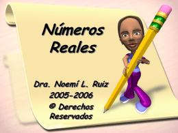 Sistemas de Números Reales