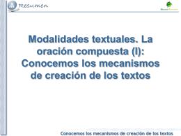 Tema 1. Conocemos los mecanismos de creación de los