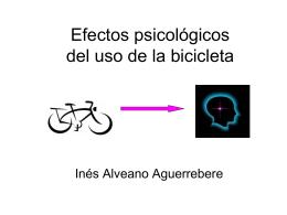 Efectos psicológicos del uso de la bicicleta