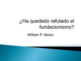 ¿Ha quedado refutado el fundacionismo?
