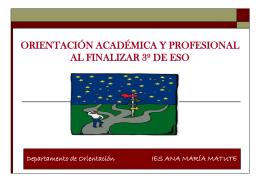 orientación académica y profesional al finalizar 4º de la eso
