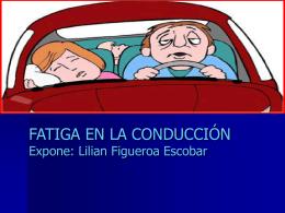 FATIGA EN LA CONDUCCIÓN Expone: Lilian Figueroa