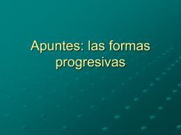Apuntes 9-2: el presente progresivo