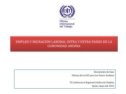 Empleo y migración laboral intra y extra países de la Comunidad