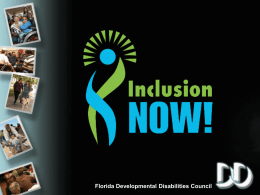 Florida Developmental Disabilities Council Inclusión