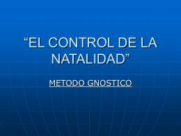 """""""EL CONTROL DE LA NATALIDAD"""""""