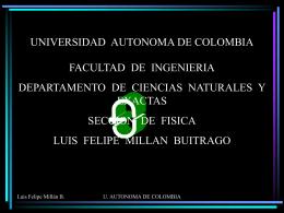 Potencial eléctrico - Universidad Autónoma de Colombia