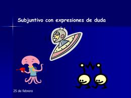 El subjuntivo con expresiones de `duda`