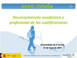 Reconocimiento académico y profesional de las cualificaciones