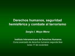 """""""Derechos humanos, seguridad hemisférica y combate al"""
