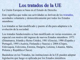 Los tratados de la UE