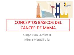 CONCEPTOS BÁSICOS DEL CÁNCER DE MAMA