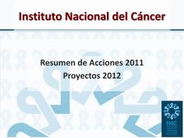 INC / Programa de control de cáncer de mama